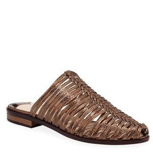 {Cecelia New York} Gloria Leather Caged Mules *NEW